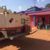 The families in La Loma are happy upon arrival of Drummond Ltd.'s water tank trucks.