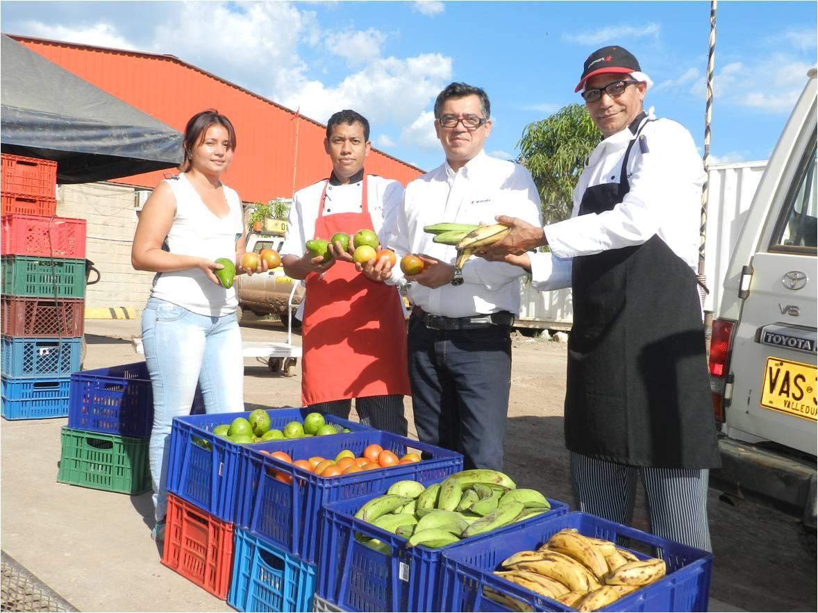 Alimentos cultivados por agricultores de La Jagua de Ibirico presentes en comedor de Drummond Ltd.