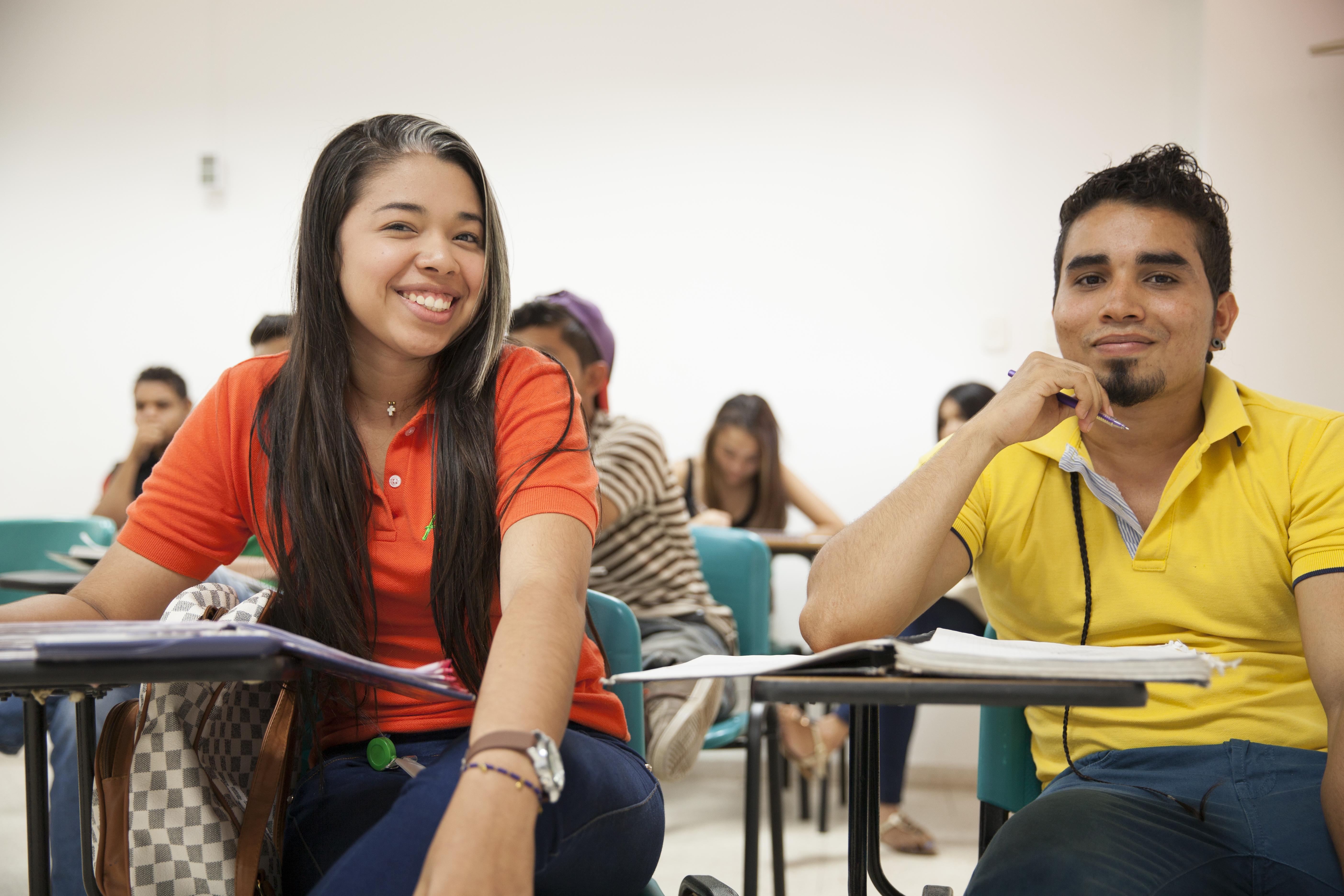 Angelica Herrera and Emilio Cruz, Drummond scholarship students.