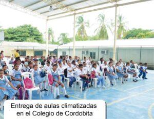 Entrega de aulas climatizadas_Colegio Cordobita Cienaga
