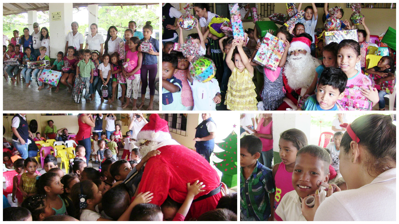 Niños del Centro de Desarrollo Infantil de Aracataca y de la vereda Las Pavas del municipio de El Copey.
