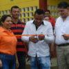 *In the photograph: Yarcely Rangel, Yair Baron, and Alfredo Araujo