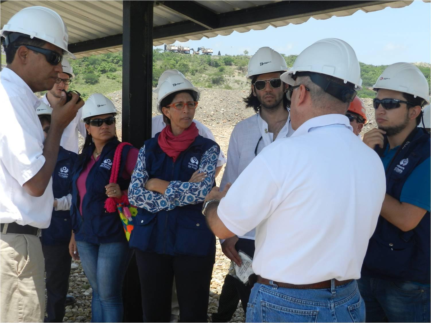 *Delegados de la Defensoría del Pueblo Colombiano recorren el proyecto minero La Loma – Pribbenow – de Drummond Ltd.
