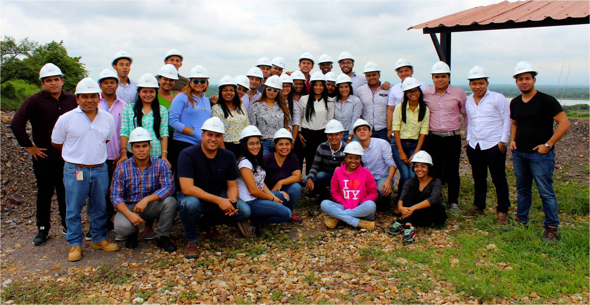 Students from the Universidad de la Costa by ramp 7's lookout point