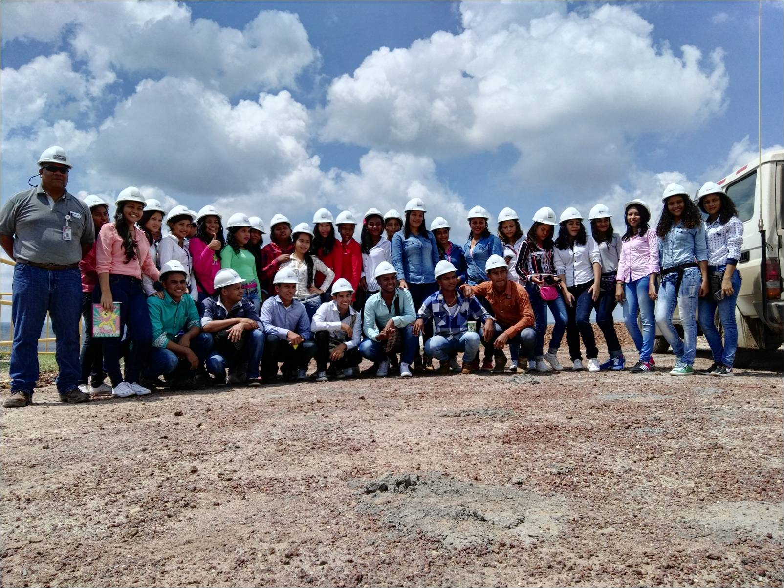 Students in their final year at the Benito Ramos Trespalacios Vocational-technical School